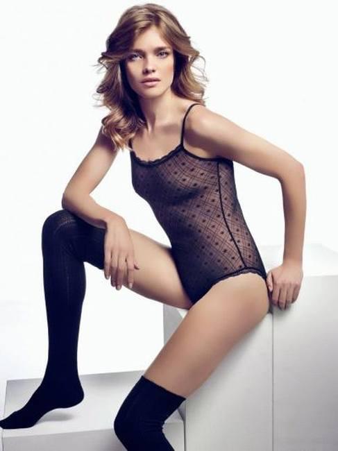 Наталья Водянова в нижнем белье Etam