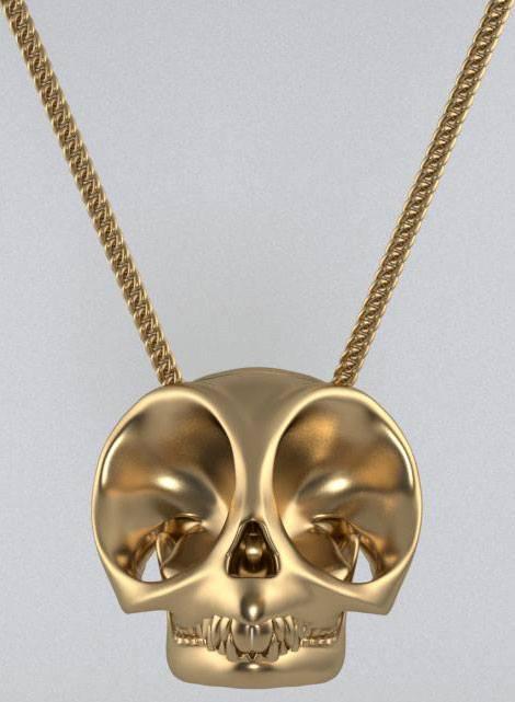 Кулон череп на цепочке. Необычные ювелирные украшения