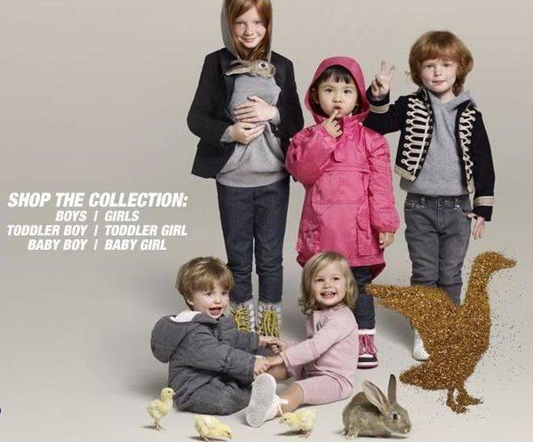 Дети и животные в рекламе одежды Стелла Маккартни фото