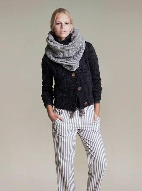 Вязаная одежда, шарф и кофта, Вязанная одежда, шарф и кофта