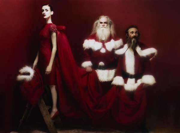 фотосессия в костюмах Деда Мороза