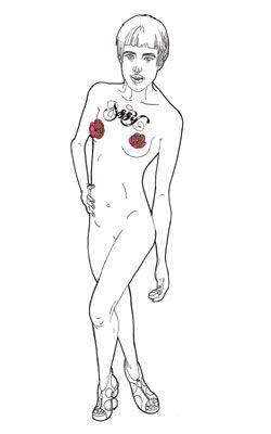 рисунок голого мужчины