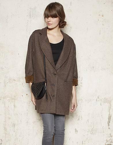 Свободное пальто большого размера