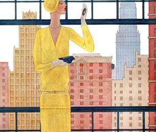 Обложка журнала Vogue в начале ХХ века