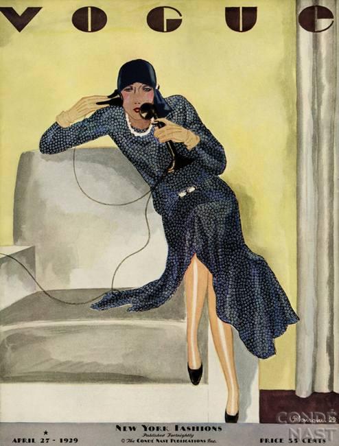 Старая обложка журнала Vogue в начале ХХ века