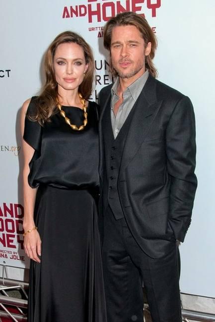 Анджелина Джоли с мужем Бредом Питтом