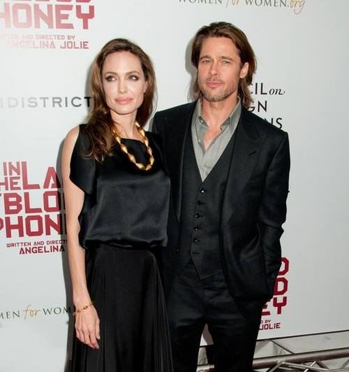 Анджелина Джоли новые фото с Бредом