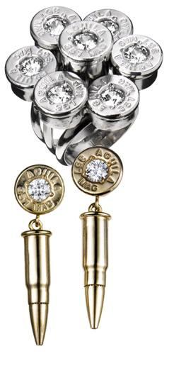золотая пуля, серебряная пуля, кольцо с пулей, патрон