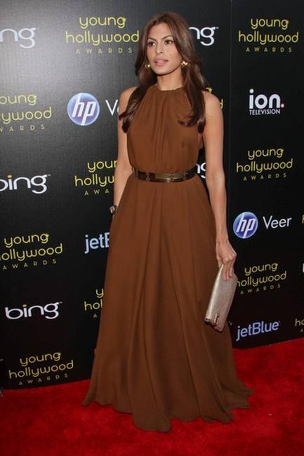 Ева Мендес в платье дизайна Lanvin