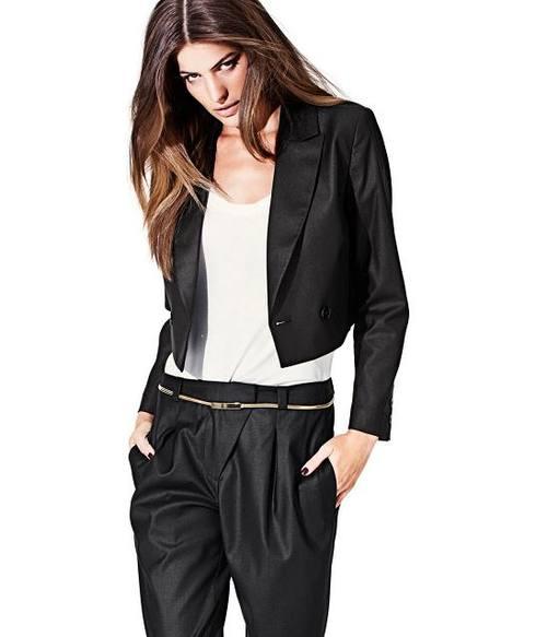 Короткий черный пиджак от H&M
