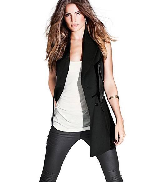 Длинный пиджак без руковов от H&M