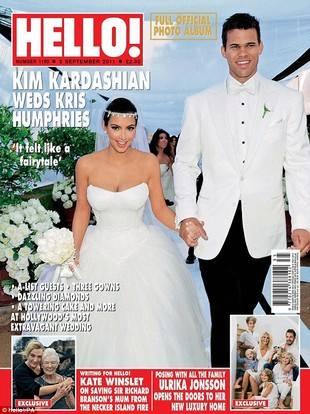Ким Кардашьян в свадебном платье
