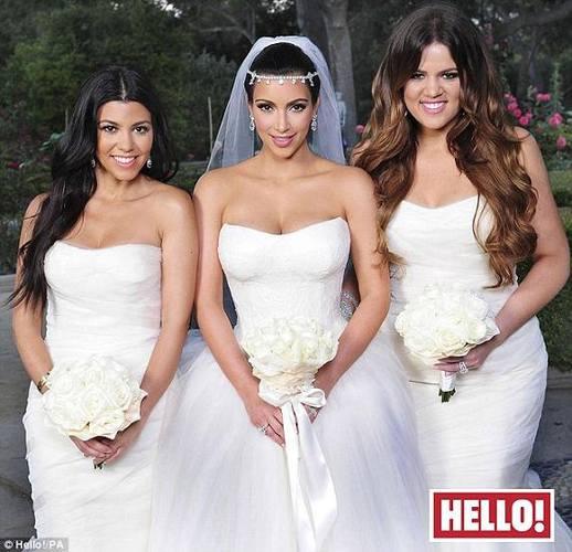 сестры Кардашьян в свадебных платьях