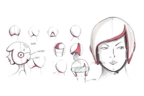 шлем для мотоцикла модный