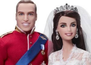 Свадебные куклы принца Уильяма и Екатерины