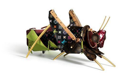 Животные из сумок Louis Vuitton