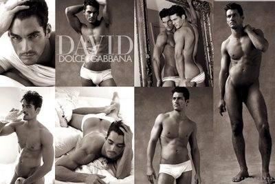 Мужчина-модель Дэвид Ганди