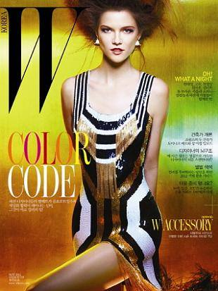 Кася Струсс на обложке журнала W Корея