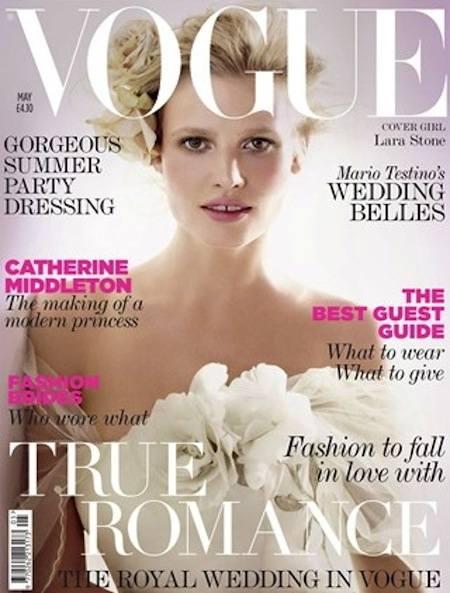 Майский Vogue UK в трех свадебных обложках