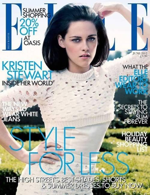 Кристен Стюарт на трех обложках Elle