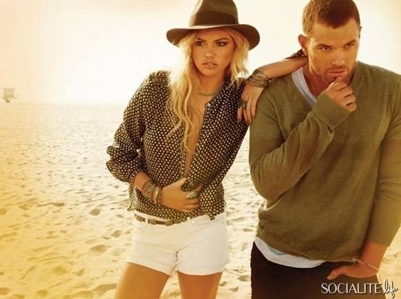 Келлан Латс и Кейт Аптон рекламируют одежду