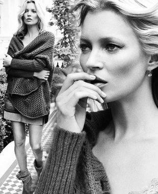 Рекламная фотосессия Кейт Мосс для Liu Jo Jeans