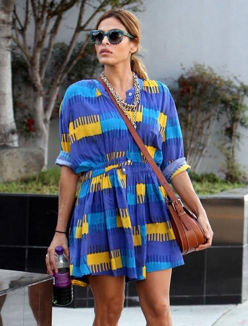 Ева Мендес в платье из шторы