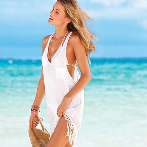 Белые пляжные наборы от Victoria `s Secret