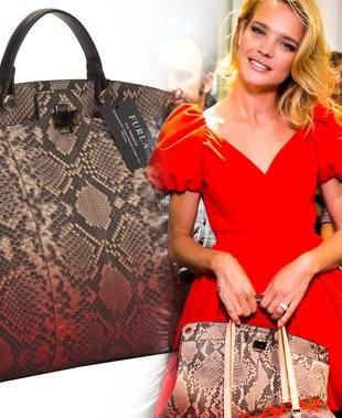 Наталья Водянова с ее сумка Furla