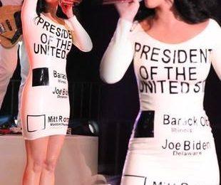 Кэти Перри уже определилась за кого голосовать