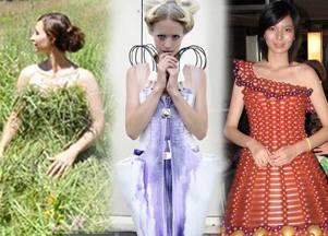 Платье из упаковочного полиэтилена? Почему нет?