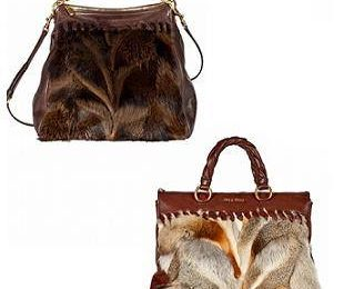 Меховые сумки Miu Miu из осенней коллекции