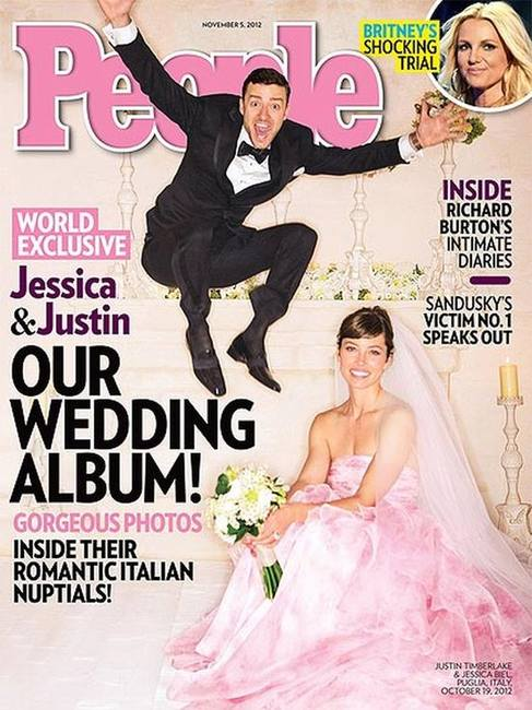 Первое фото свадебного платья Джессики Бил
