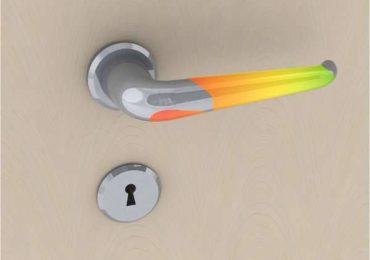 Дверные ручки для входных дверей. Термочувствительная дверная ручка