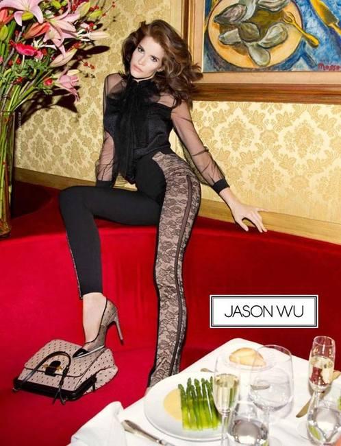 Jason Wu в качестве модели в своей кампании