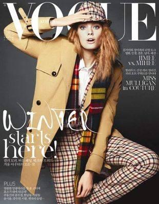 Констанс Яблонски в корейском Vogue