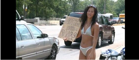 Я не бездомная, просто собираю на увеличение груди!