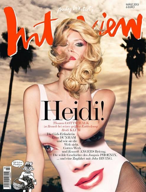 Хайди Клум на обложке Interview Германия