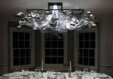 Обзор лучших идей дизайна : оригинальный светильник для гостиной