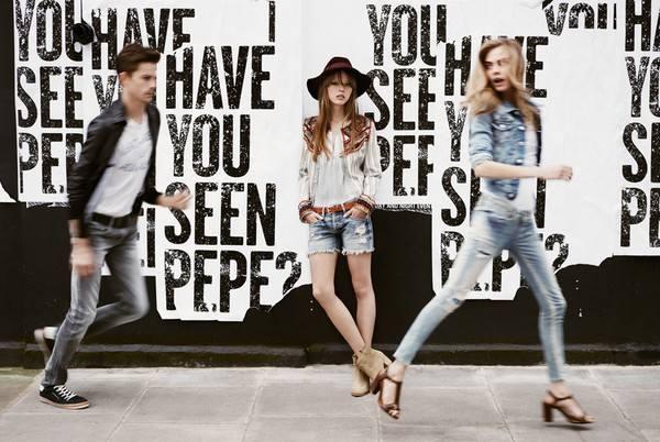 Pepe Jeans джинсовая кампания на лето 2013