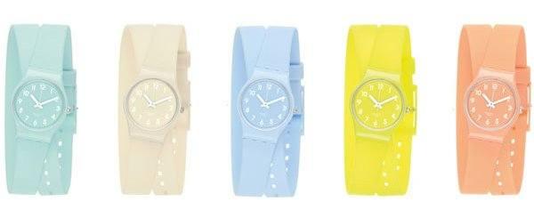 Очень красочные часы Swatch