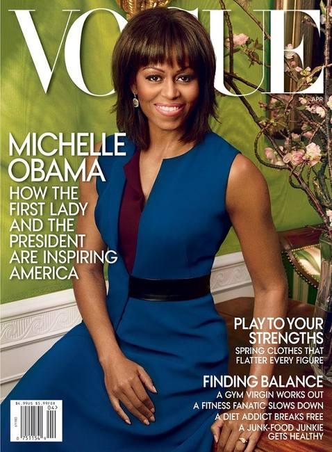Мишель Обама на обложке Vogue США апреле