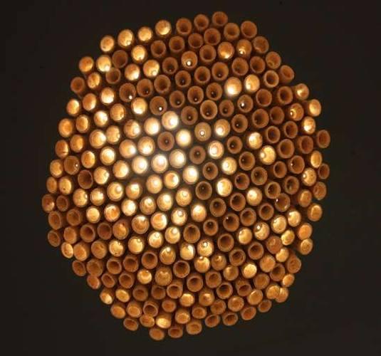 Пробка от шампанского в качестве фонаря