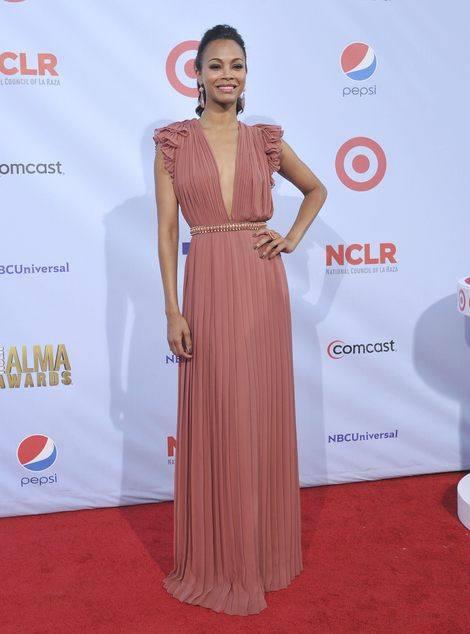Зои Салдана в роскошном платье от Gucci