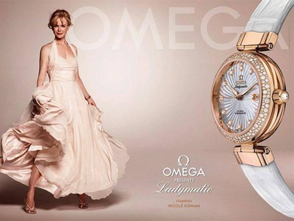 Николь Кидман в рекламной кампании часов Omega
