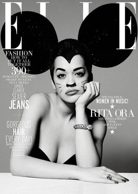 Рита Ора на двух обложках Elle США