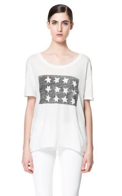 Zara - футболки с именами, надписями и принтами