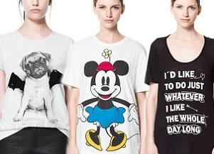 Zara — футболки с именами, надписями и принтами