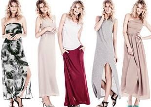 H&M макси платья в разных стилях