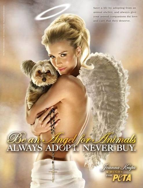 Джоанна Крупа в защиту животных PETA
